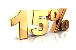 Налоговая ставка ЕНВД - 15 процентов