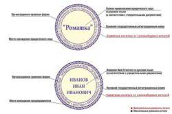 Элементы печатей ИП и ООО
