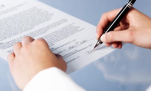 Заполнение договора на оказание услуг