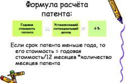 Формула расчета патента