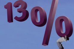 Оплата налога в размере 13 процентов от дохода