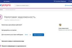Проверка налоговой задолженности на сайте госуслуг