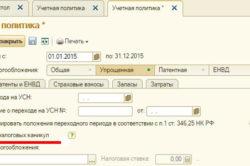 """Установка в учетной политике фирмы режима """"налоговых каникул"""""""