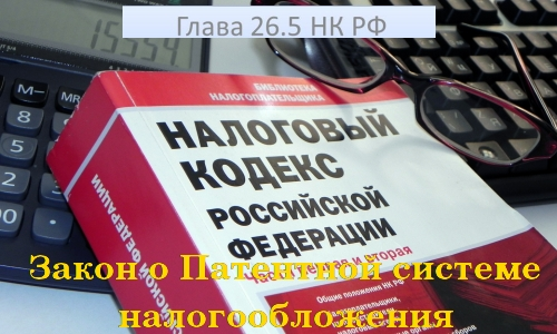 Закон о Патентной системе налогообложения в Налоговом Кодексе РФ
