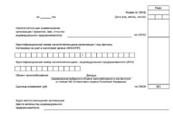 Бланк документа для ИП на УСНО
