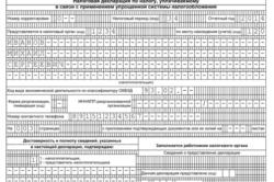 Образец декларации УСН по доходам