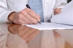 Заполнение регистрационных бланков